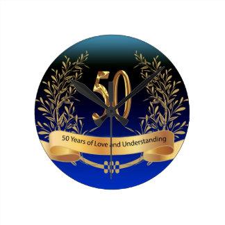 Elegante 50. Hochzeitstag-Geschenke Uhr