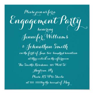 Elegante aquamarine Verlobungs-Party Einladungen