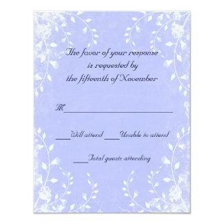 Elegante blaue Hochzeits-Wartekarte 10,8 X 14 Cm Einladungskarte