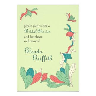 Elegante Blumen-Brautparty-Einladung 12,7 X 17,8 Cm Einladungskarte