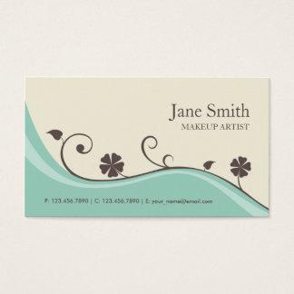 Elegante Blumen-Retro modernes stilvolles mit Visitenkarten