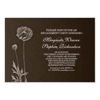 elegante braune Verlobungs-Party Einladungen