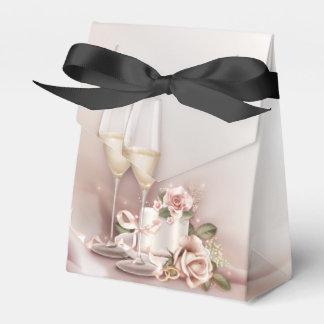 Elegante Champagne-Hochzeit Geschenkschachtel