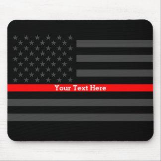 Elegante dünne rote Linie personalisierte Mousepad