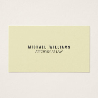 Elegante Farbe Crema Visitenkarten