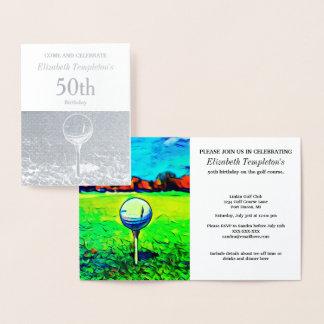 Elegante Folien-Golf spielende Folienkarte