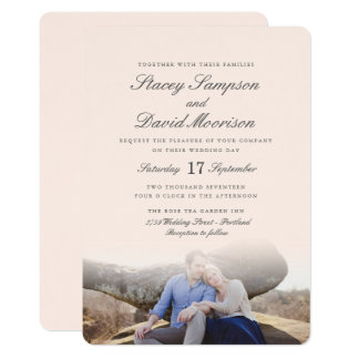 Elegante Foto-Hochzeit Karte
