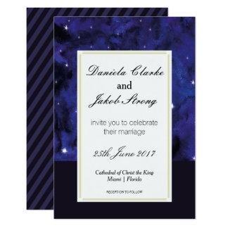Elegante Galaxie-Hochzeits-Einladung Karte