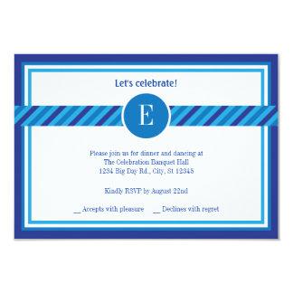 Elegante geometrische Bar Mitzvah Empfangs-Karte 8,9 X 12,7 Cm Einladungskarte