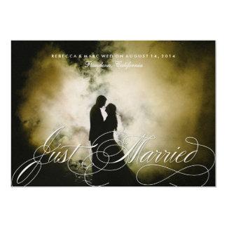 Elegante gerade verheiratete 12,7 x 17,8 cm einladungskarte