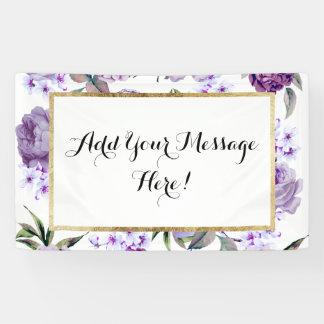 Elegante Girly violette lila lila Blumen Banner