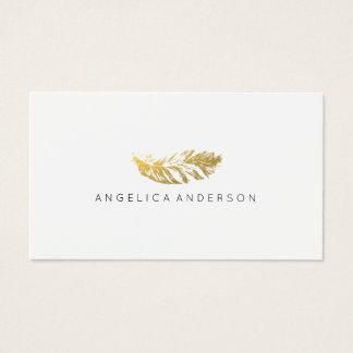 Elegante Goldfeder-Visitenkarte Visitenkarte