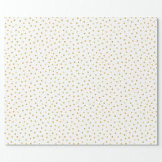 Elegante Goldfolieconfetti-Punkte Geschenkpapier