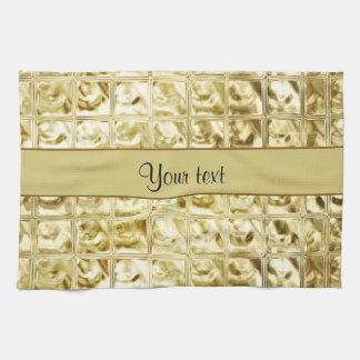 Elegante Goldfolien-Quadrate Handtuch