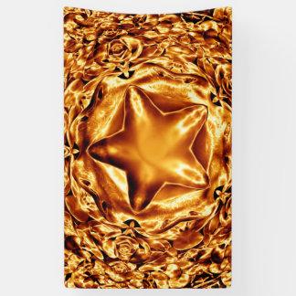 Elegante Goldkupfer-Weihnachtsstern-Chic-Fahne Banner