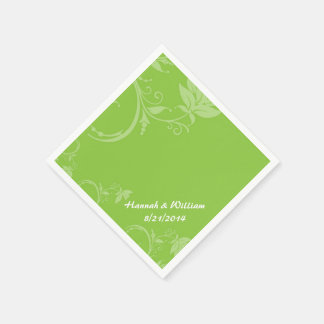 Elegante grüne kundenspezifische Hochzeits-mit Servietten