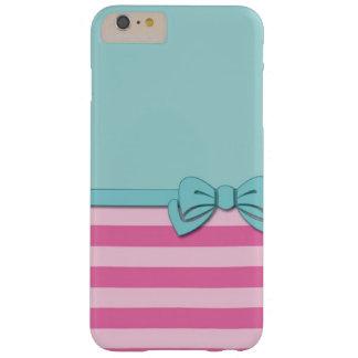 Elegante grüne und rosa iphone Abdeckung Barely There iPhone 6 Plus Hülle