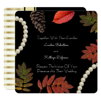 Elegante Herbst-Hochzeits-Einladung Quadratische 13,3 Cm Einladungskarte
