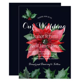 Elegante Hochzeit des roten Winters der Karte