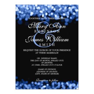 Elegante Hochzeits-Blau-Lichter 16,5 X 22,2 Cm Einladungskarte