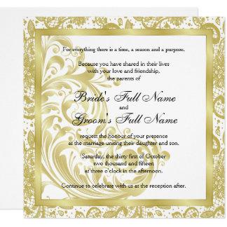 Elegante Hochzeits-Einladung - Gold Karte