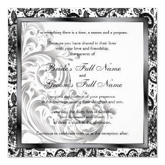 Elegante Hochzeits-Einladung - Schwarzes Karte