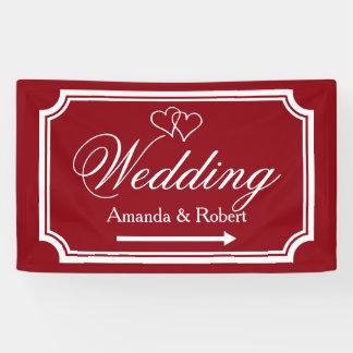 Elegante Hochzeits-Empfangs-Wegweiserfahne Banner