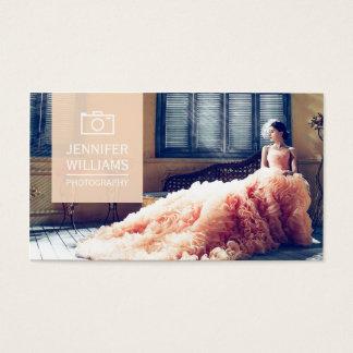 Elegante Hochzeits-Fotograf-Fotografie Visitenkarten