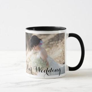 Elegante Hochzeits-Tasse mit Foto Tasse