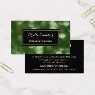 Elegante Innenarchitektur bezauberndes grünes Luxe Visitenkarte