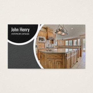 Elegante Innenarchitektur mit Bild Visitenkarte
