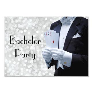 Elegante Junggeselle-Party Einladung mit Tuxedo