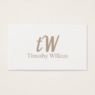Elegante klare und minimalistisches Karte