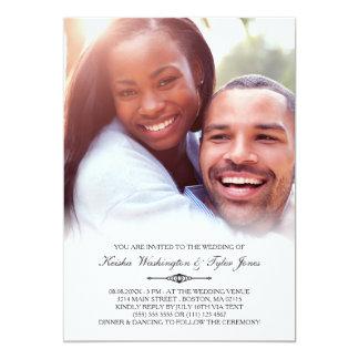 Elegante kundenspezifische Foto-Hochzeit 12,7 X 17,8 Cm Einladungskarte