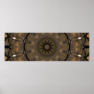 Elegante Mandala-Natur Poster