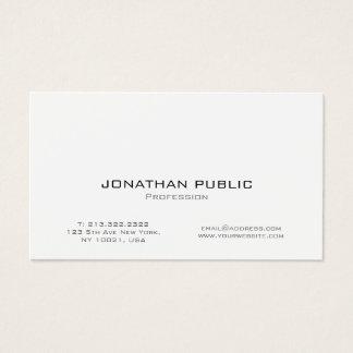 Elegante moderne berufliche weiße intelligente visitenkarte