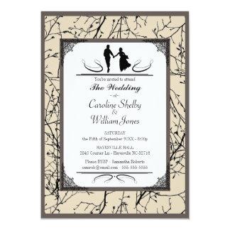 Elegante moderne einfache Hochzeits-Sahneeinladung Karte