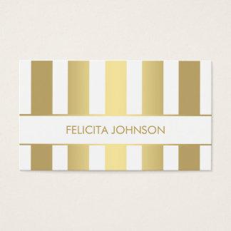 Elegante moderne GoldVisitenkarteschablone Visitenkarten