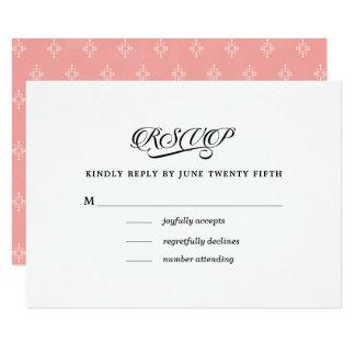 Elegante Muster-Hochzeit UAWG Karten des Rosa-| Karte