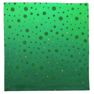 Elegante Punkte - grünes Gold - St Patrick Tag Serviette