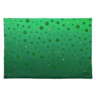 Elegante Punkte - grünes Gold - St Patrick Tag Tischset