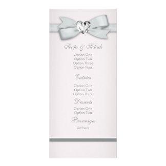 Elegante rosa Babyparty-Menü-Karten Bedruckte Werbekarte