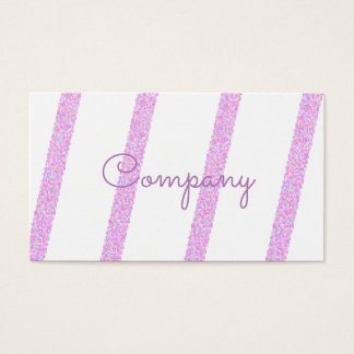 Elegante rosa gestreifte Visitenkarten