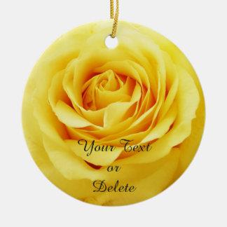 Elegante Rose Keramik Ornament