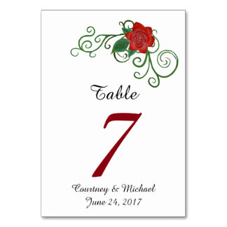 Elegante Rosen-Hochzeits-Tabellen-Karte