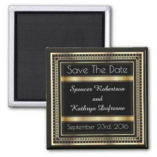"""Elegante """"Save the Date"""" Hochzeit Quadratischer Magnet"""