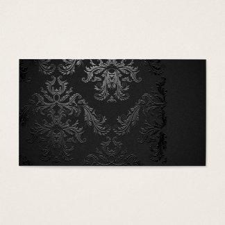 Elegante schwarze Damast-Visitenkarte-Schablone Visitenkarten