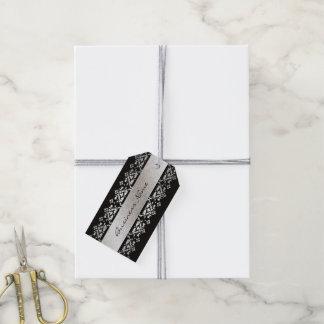 Elegante schwarze und silberne kundenspezifische geschenkanhänger
