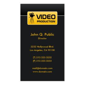 Elegante schwarze Video-und Film-Produktion Visitenkarten