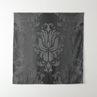 Elegante schwarze wandteppich